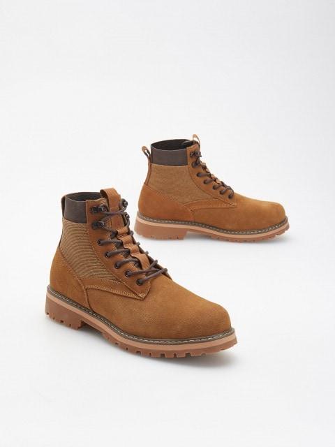 Треккинговые ботинки из комбинированных материалов