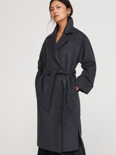 Пальто из материала с добавлением шерсти