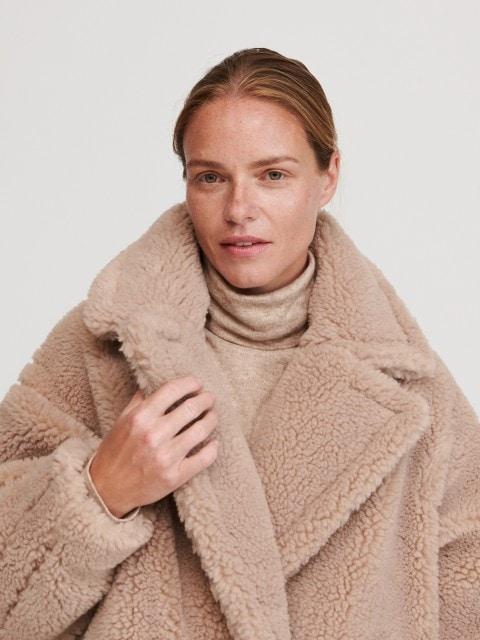 Пушистое пальто oversize