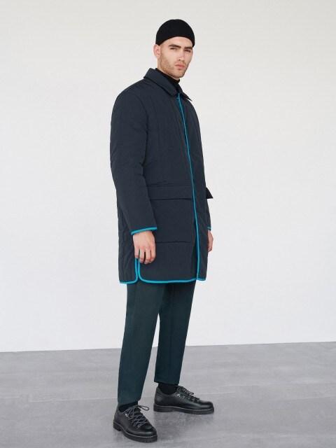 Пальто с контрастной отделкой