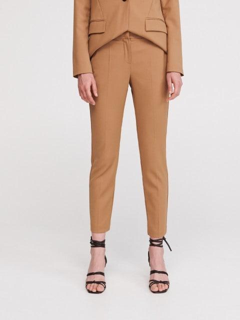 Костюмные полушерстяные брюки