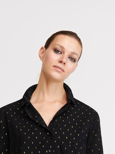 Платье-рубашка с узором