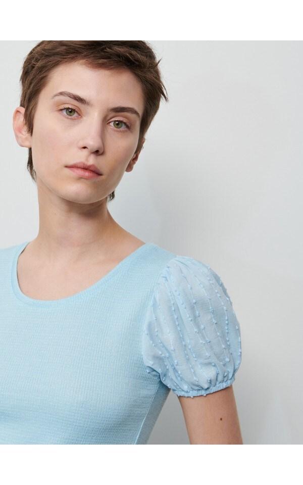 Блузка с объемными рукавами, RESERVED, 1316A-05X
