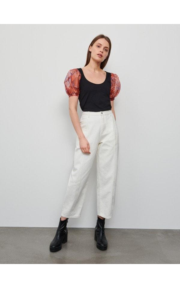 Блузка из ткани с добавлением хлопка и модала, RESERVED, 1362A-99X