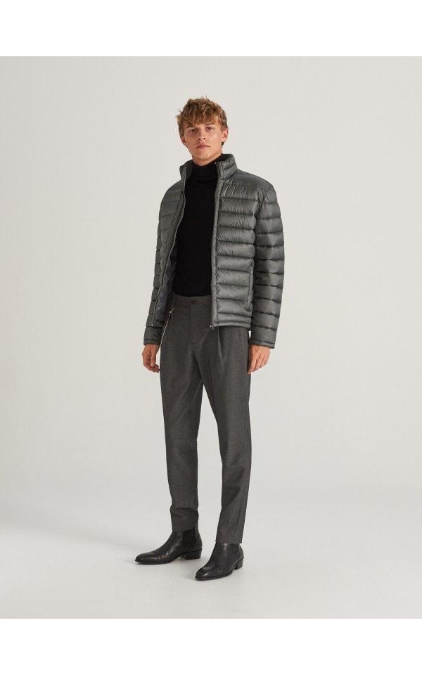 Стеганая куртка с воротником-стойкой, RESERVED, WF410-96X