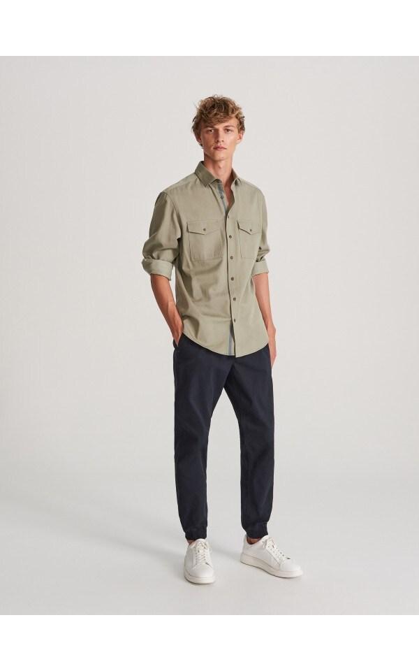 Хлопковые брюки jogger, RESERVED, WK440-59X