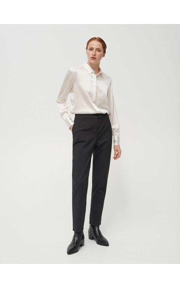 Элегантные брюки с высокой талией, RESERVED, XJ724-99X