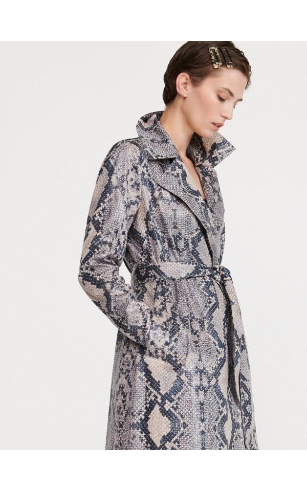 Пальто со змеиным принтом, RESERVED, XK619-MLC