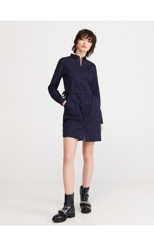 Платье-рубашка из органического хлопка, RESERVED, YC001-59X