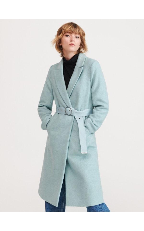 Пальто из материала с добавлением шерсти, RESERVED, YF228-66X