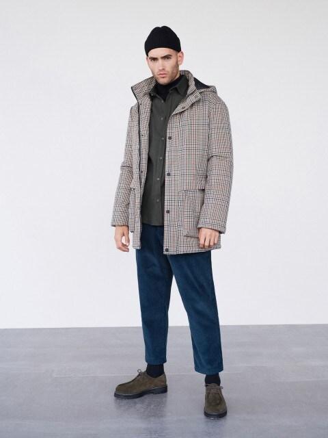 Утепленная куртка в клетку