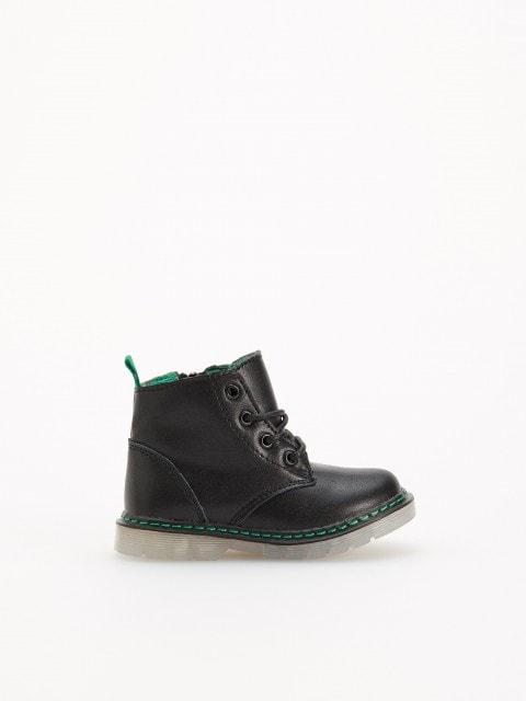 Кожаные треккинговые ботинки с подкладкой