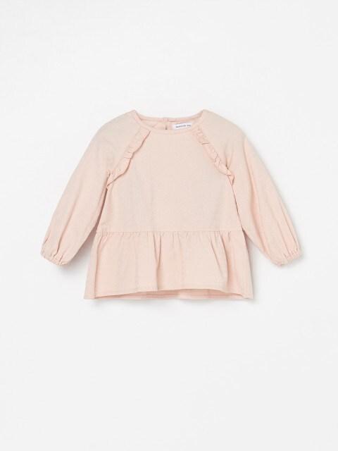 Хлопковая блузка с оборками