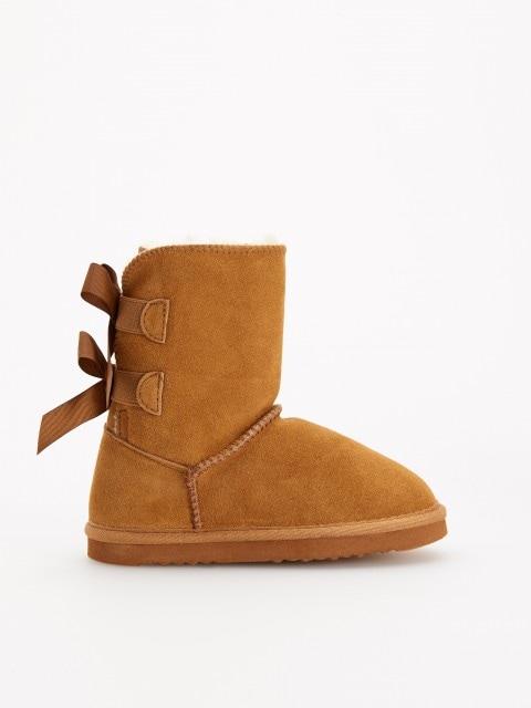 Утепленные кожаные сапоги