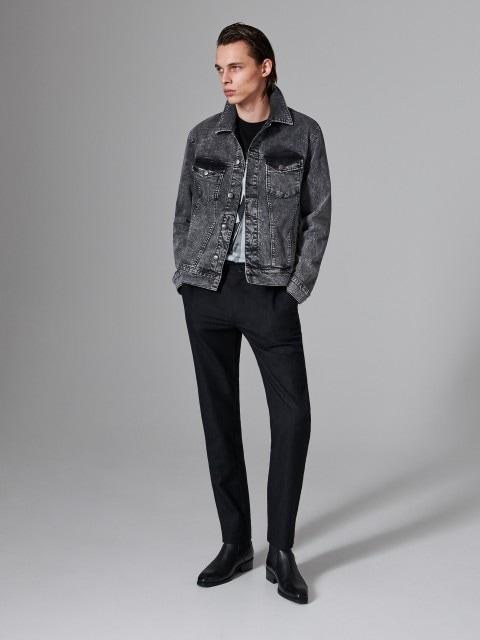 Элегантные брюки из ткани с добавлением шерсти