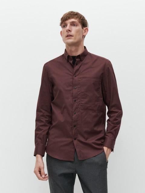 Однотонная рубашка regular fit
