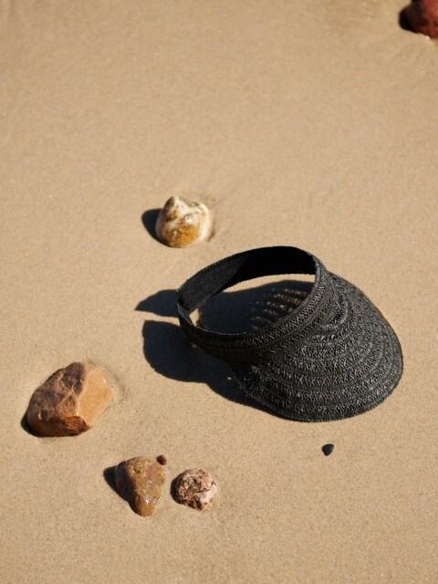 Плетеная повязка на голову с козырьком