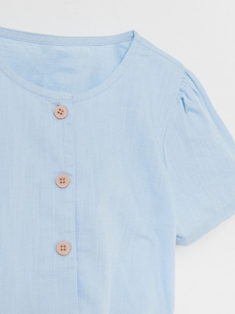 Cotton shirt with tie detail