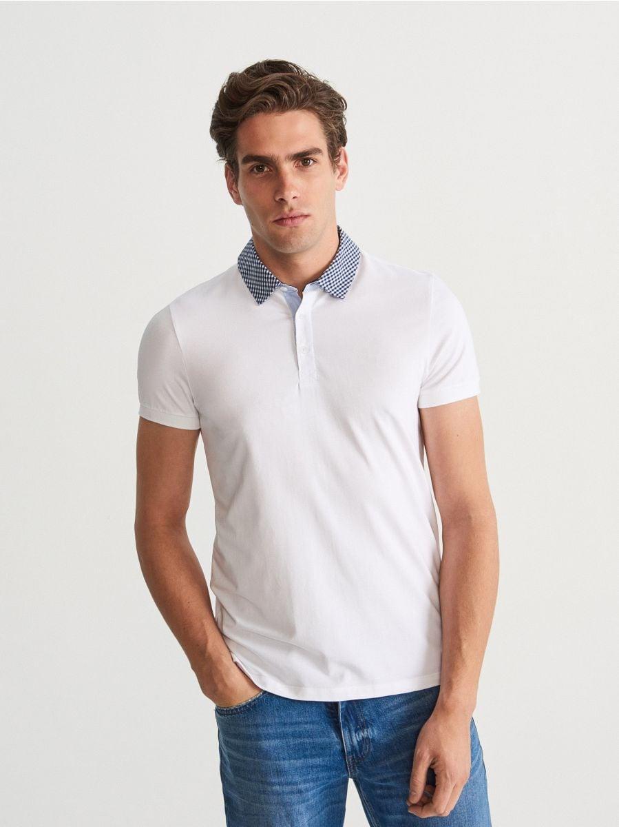 Polo tričko s ozdobným golierom