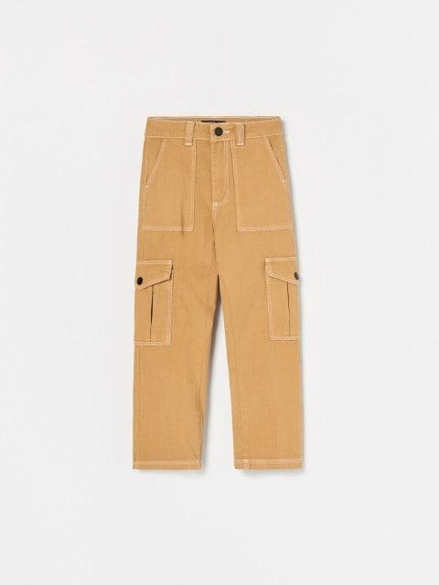 Džínsové cargo nohavice