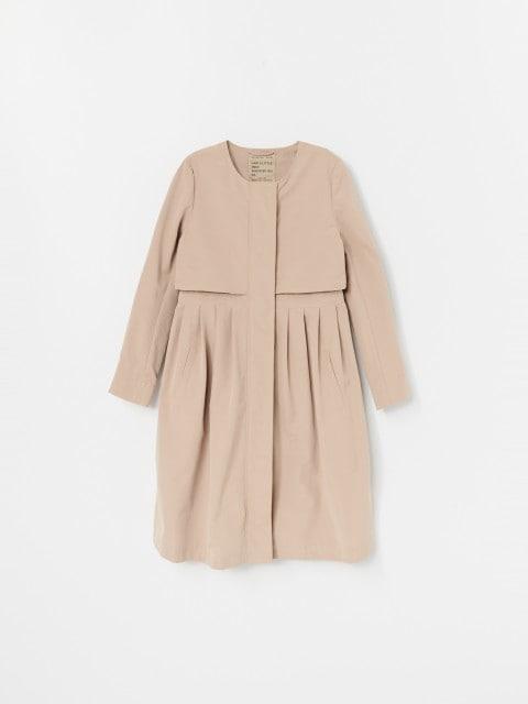 Trapézový kabát s prímesou bavlny