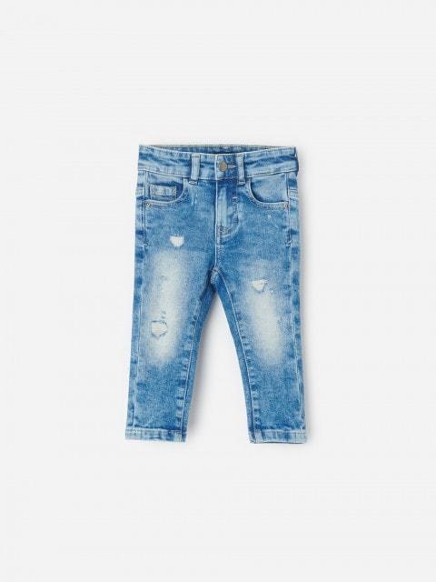 Vyšúchané slim fit džínsy