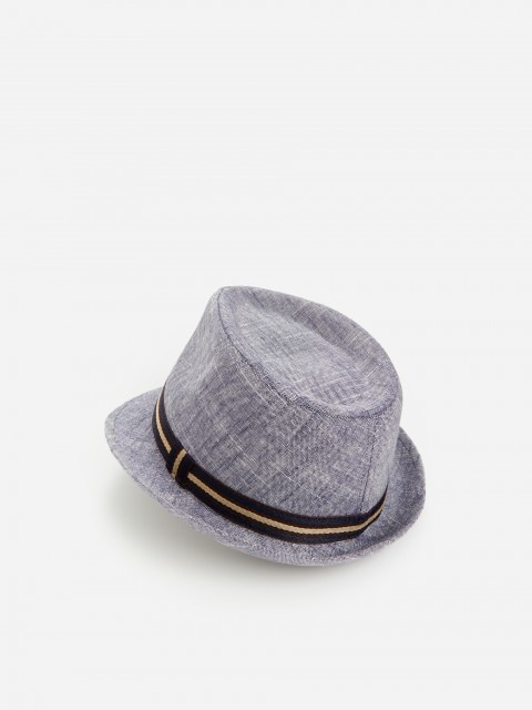 Ľanový klobúk trilby s prímesou viskózy
