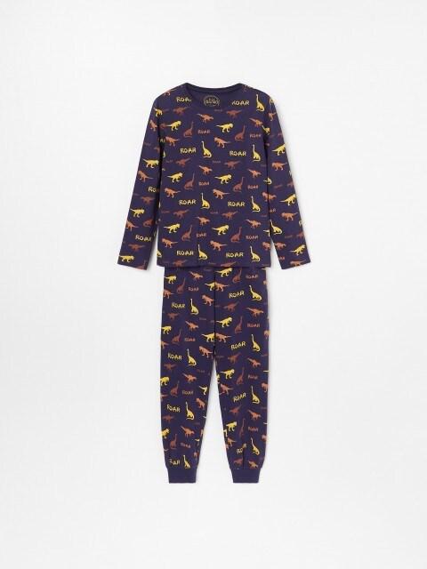 Pyžamo s potlačou s motívom dinosaurov