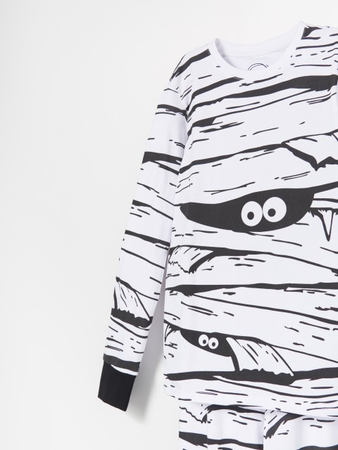 Бавовняний піжамний комплект зі штанами