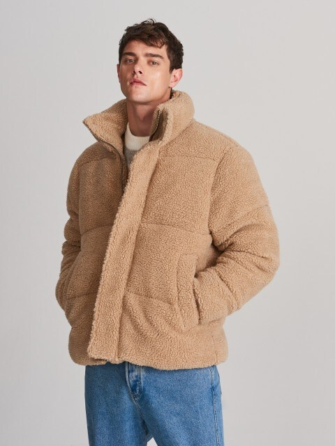 Куртка зі штучної овчини