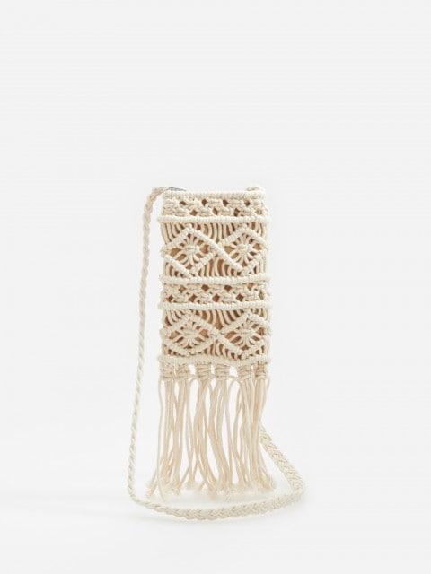 Бавовняна сумка на пасок у стилі макраме