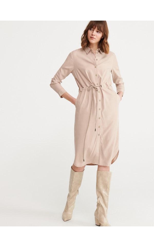 Сукня-сорочка з поясом, RESERVED, YN684-80X
