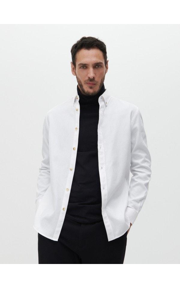 Бавовняна сорочка regular fit, RESERVED, YV036-00X