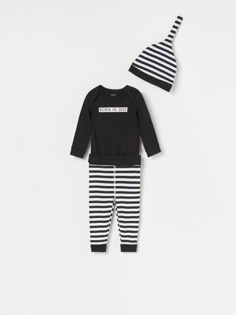 Боді, штанці та шапочка для немовлят