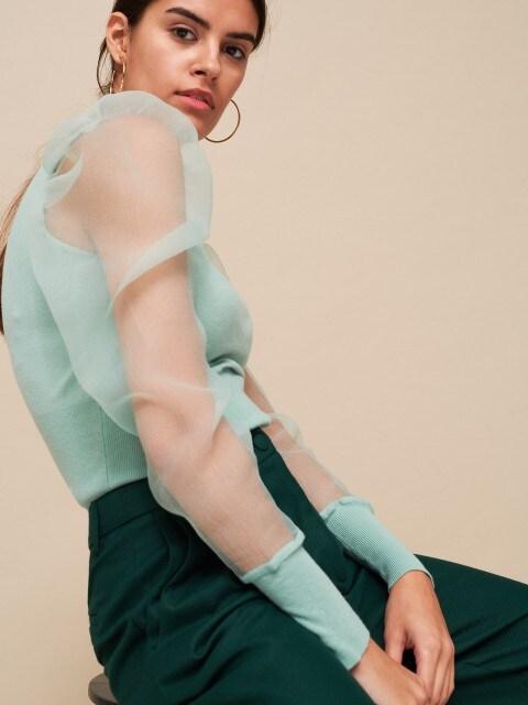 Джемпер із рукавами з органзи